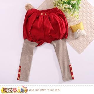 【魔法Baby】女童裝 假兩件燈籠褲(k60614)   魔法Baby