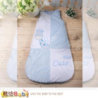【魔法Baby】嬰幼兒寢具 柔舒雪絨加厚鋪棉寶寶防踢睡袋(k60597)   魔法Baby