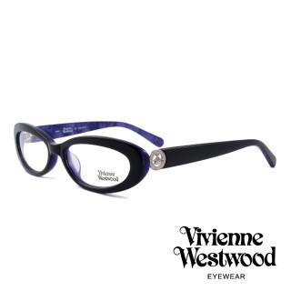 【Vivienne Westwood】英國薇薇安魏斯伍德★英倫龐克風光學眼鏡(黑紫 VW153M04)  Vivienne Westwood