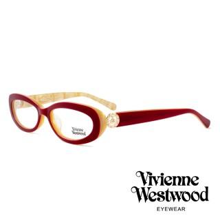 【Vivienne Westwood】英國薇薇安魏斯伍德★英倫龐克風光學眼鏡(紅/白鑽 VW153M02)   Vivienne Westwood