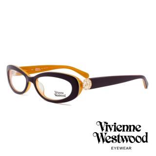 【Vivienne Westwood】英國薇薇安魏斯伍德★英倫龐克風光學眼鏡(深紫/橘 VW153M01)  Vivienne Westwood