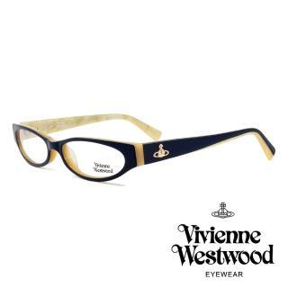 【Vivienne Westwood】英國薇薇安魏斯伍德★復古時尚造型光學眼鏡(藏青/米白 VW152M02)   Vivienne Westwood