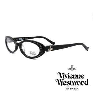 【Vivienne Westwood】英國薇薇安魏斯伍德★閃亮時尚晶鑽光學眼鏡(黑 VW150M05)   Vivienne Westwood