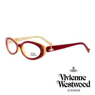【Vivienne Westwood】英國薇薇安魏斯伍德★閃亮時尚晶鑽光學眼鏡(紅白鑽 VW150M02)   Vivienne Westwood