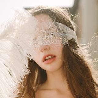 【歐香Ou Hsiang】性感睫毛蕾絲面具眼罩面紗挑逗情趣角色扮演-雪花白(R19802)   歐香Ou Hsiang