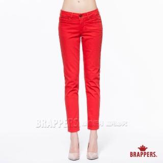 【BRAPPERS】女款 新美腳Royal系列-中低腰彈性九分褲(橘紅)   BRAPPERS