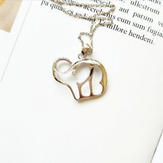 【DoriAN】祈福大象鎖骨項鍊(925純銀 鑲CZ鑽)  DoriAN