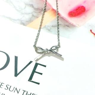 【DoriAN】立體蝴蝶結鎖骨項鍊(925純銀)   DoriAN