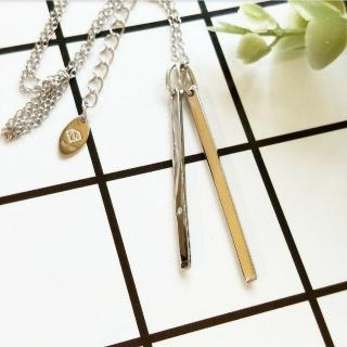 【DoriAN】長條積木鑲鑽鎖骨項鍊(925純銀 鑲CZ鑽)  DoriAN