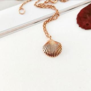 【DoriAN】玫瑰金貝殼鎖骨項鍊(925純銀 鍍玫瑰金)  DoriAN