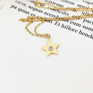 【DoriAN】閃耀金星鑲鑽(925純銀 鍍18K金 鑲CZ鑽)   DoriAN