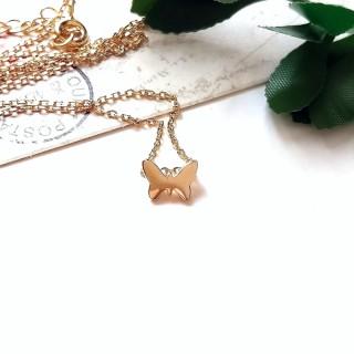 【DoriAN】小蝴蝶鎖骨項鍊(925純銀 鍍18K金)  DoriAN