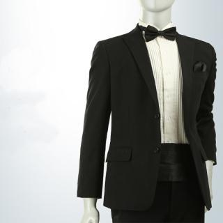 【拉福】新郎結婚男腰帶腰封領結糾糾(黑 腰封+領結)   拉福