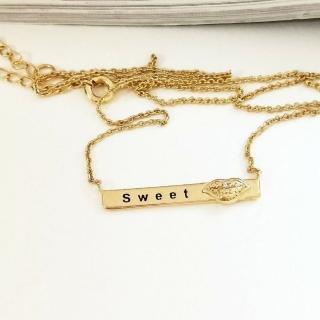 【DoriAN】甜蜜之吻鎖骨項鍊(925純銀 鍍18K金)   DoriAN