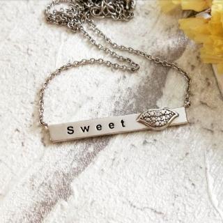 【DoriAN】甜蜜之吻鎖骨項鍊(925純銀)   DoriAN