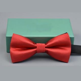 【拉福】橫條紋結婚新郎領結糾糾(大紅色)   拉福