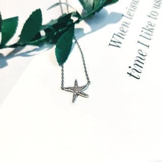 【DoriAN】海星鑲鑽鎖骨項鍊(925純銀 鑲CZ鑽)  DoriAN