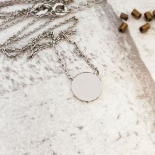 【DoriAN】簡約圓片造型鎖骨項鍊(925純銀)  DoriAN
