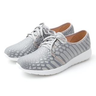 【GMS】MIT極輕量系列-反光蟒蛇記憶鞋墊休閒鞋(灰色)   GMS