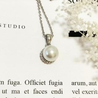 【DoriAN】日系氣質琉璃珍珠鎖骨項鍊(925純銀 鑲琉璃珍珠)   DoriAN
