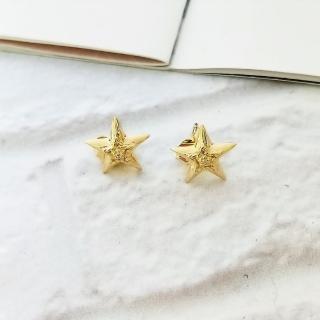 【DoriAN】星星鑲鑽耳環(925純銀 鍍18K金)  DoriAN