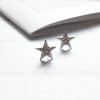 【DoriAN】星星鑲鑽耳環(925純銀)  DoriAN
