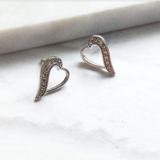 【DoriAN】縷空桃心愛心Heart耳環(925純銀)  DoriAN
