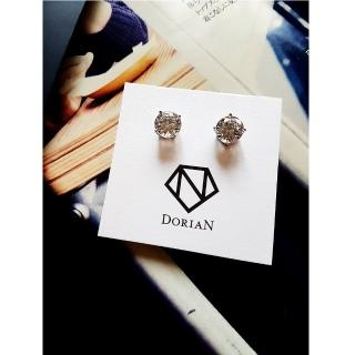 【DoriAN】時尚單鑽耳環(925純銀 鑲CZ鑽)  DoriAN