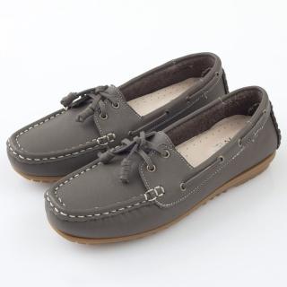 【GMS】MIT情侶鞋系列-水洗牛皮帆船鞋(墨綠色)  GMS