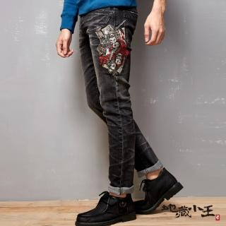 【BLUE WAY】撲克逆襲彈性低腰直筒褲 - 地藏小王   BLUE WAY
