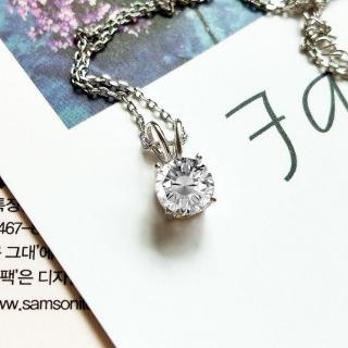 【DoriAN】時尚圓鑽鎖骨項鍊(925純銀 鑲CZ鑽)   DoriAN