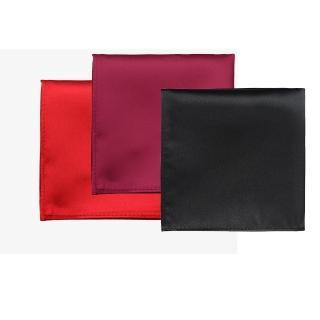 【拉福】純色西裝口袋巾裝飾新郎晏會(3色可選)   拉福