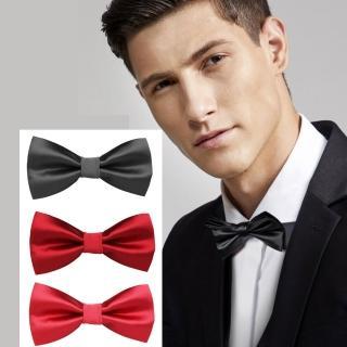 【拉福】純色亮面高質感領結新郎結婚領結糾糾(大紅色)   拉福