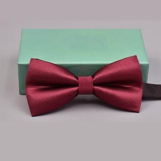 【拉福】中紅橫條紋結婚領結糾糾(兒童中紅)  拉福