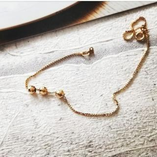 【DoriAN】Eil系列 義大利進口正14K金系列- 精雕立體小金珠正14K黃金手鍊(附精美禮盒)   DoriAN