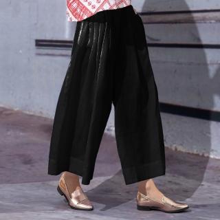 【PANGCHI 龐吉】純色素面優雅寬褲(1716029-91/92)  PANGCHI 龐吉
