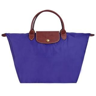 【LONGCHAMP】Le Pliage 短把摺疊水餃包(中/紫水晶)   LONGCHAMP