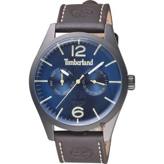 【Timberland】天柏嵐 MIDDLETON 復刻日曆男錶-藍x咖啡/44mm(TBL.15018JSU/03)  Timberland