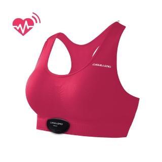 【CABALLERO】女款心跳感測短版運動背心 桃紅  CABALLERO