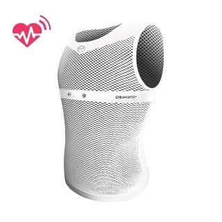 【CABALLERO】男款心跳感測全網運動背心 白  CABALLERO
