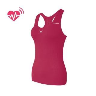 【CABALLERO】女款心跳感測長版運動背心 桃紅  CABALLERO