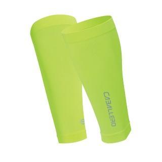 【CABALLERO】一體成型運動壓力腿套 螢光黃  CABALLERO