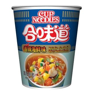 【NISSIN 日清】合味道 香辣海鮮味杯麵 71g(日清泡麵)