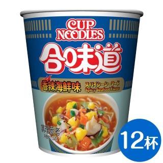 【NISSIN 日清】合味道 香辣海鮮味杯麵 71g*12杯(日清泡麵)  NISSIN 日清