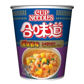 【NISSIN 日清】合味道 酸辣蝦海鮮味杯麵 74g(日清泡麵)  NISSIN 日清