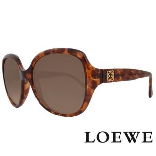 【LOEWE 羅威】西班牙皇室品牌羅威素面立體LOGO太陽眼鏡(琥珀 SLW775-0744 12HR)   LOEWE 羅威