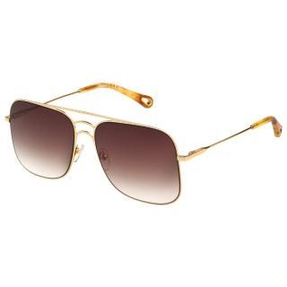 【Chloe' 蔻依】金屬大框 太陽眼鏡 CE140S(金色)  Chloe' 蔻依