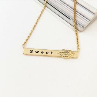 【DoriAN】甜蜜約定鎖骨項鍊(925純銀 鍍18K金 附精美手工禮盒)  DoriAN