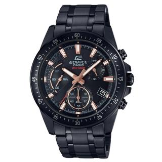 【CASIO 卡西歐】三眼計時賽車男錶 不鏽鋼錶帶 防水100米 日期顯示(EFV-540DC-1B)  CASIO 卡西歐