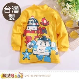 【魔法Baby】兒童長袖T恤 台灣製POLI正版純棉半高領衫(k60642)   魔法Baby